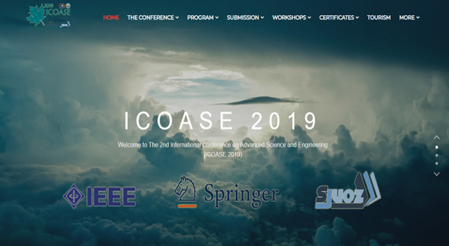 International Conference on Advanced Science and Engineering (ICOASE2019)