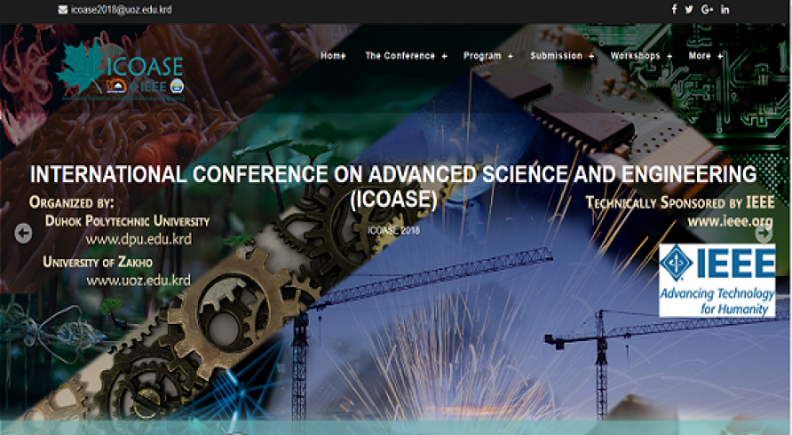 International Conference on Advanced Science and Engineering, 2018