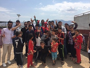 "The University of Zakho presented a humanitarian project at the Camp of ""Cham Mishko"""