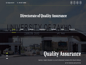 The official website for the Directorate of Quality Assurance is ready to be used
