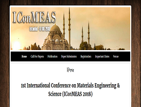 1<sup>st </sup>International Conference on Materials Engineering & Science (IConMEAS, 2018)