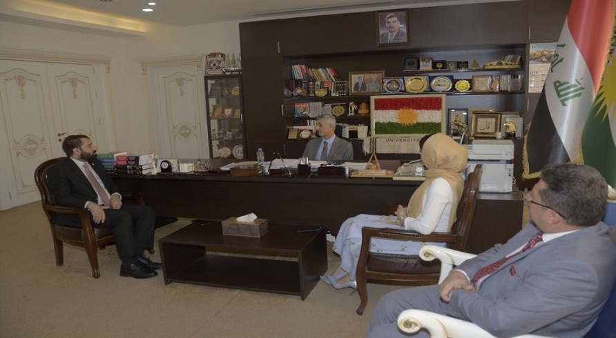Representative of American Consulate Visited the University of Zakho