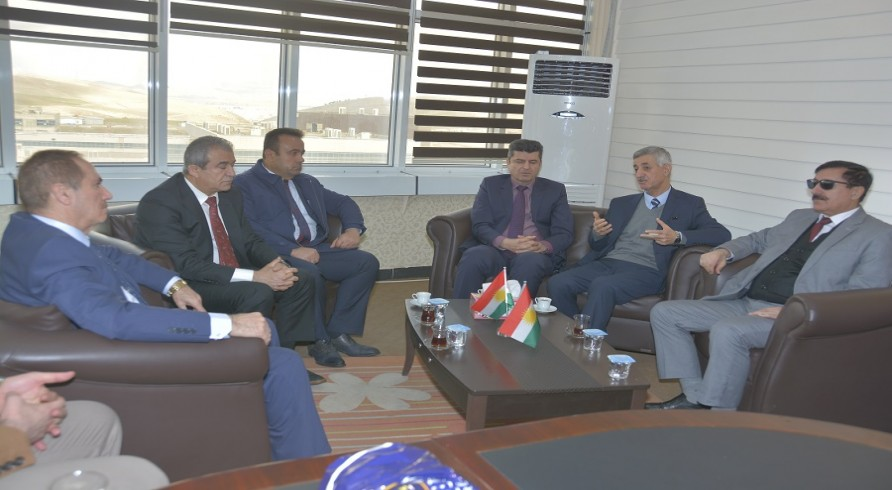 A Delegate from Kurdistan Democratic Party Visited the University of Zakho
