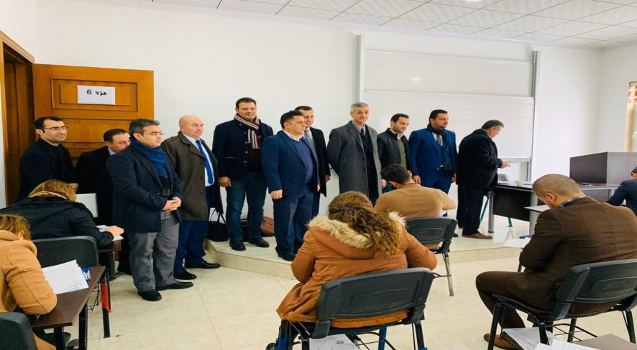 Council of the University of Zakho Visited Halls of Scientific Proficiency Test