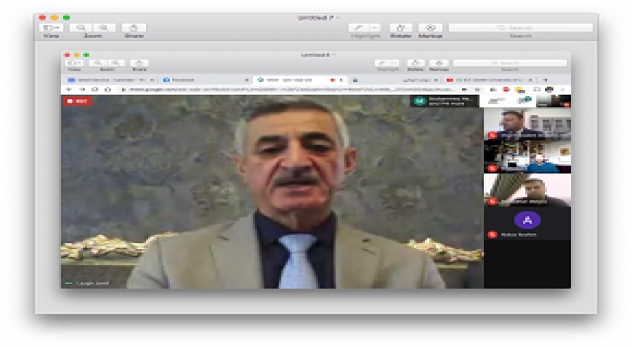 President of the University of Zakho Conducted an Online Meeting