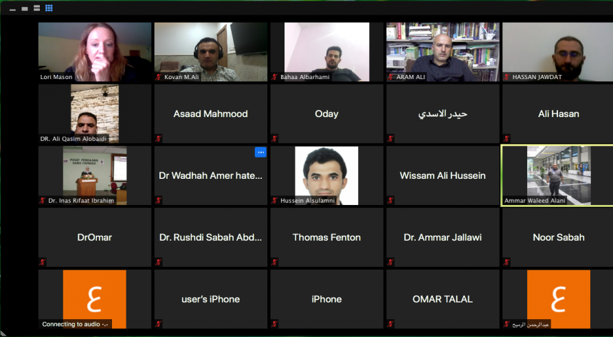 IREX Organization Conducted an Online Workshop for Iraqi Universities