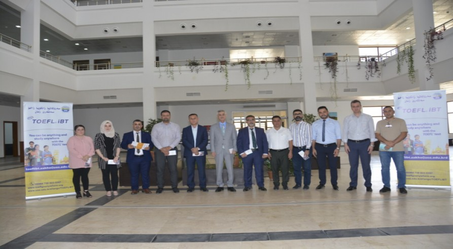 For the First Time Ever, the Internationally Recognized TOEFL ibt Test Was Successfully Conducted at the University of Zakho