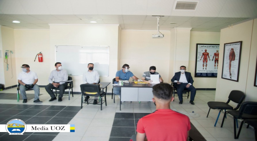 The University of Zakho Conducts Admission Test for Students Applying to Join the Department of Physical Education