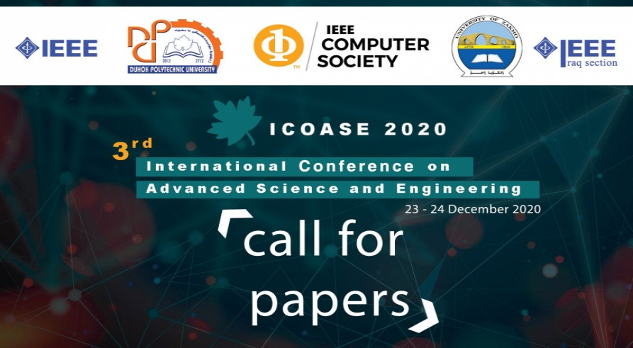 3rd International Conference on Advanced Science and Engineering (ICOASE 2020) to Be Held